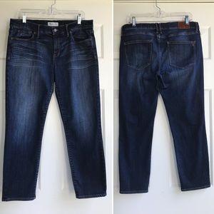 Madewell Jeans Mid Rise Dark Blue Denim Sz 32 X 26